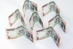 Indische munt van 100 Roepiesnota's Royalty-vrije Stock Foto's