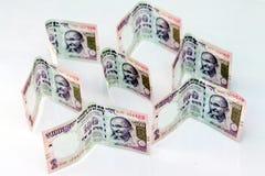 Indische munt van 100 Roepiesnota's Royalty-vrije Stock Afbeeldingen