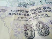 Indische muntbankbiljetten stock afbeeldingen