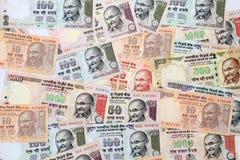 Indische muntbankbiljetten Stock Foto