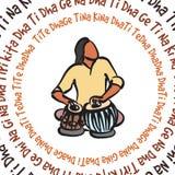Indische musicus het spelen tabla royalty-vrije illustratie