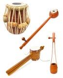 Indische Musikinstrumente stockfotos