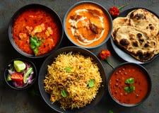 Indische niet vegetarische Maaltijd - Punjabi-schotel royalty-vrije stock afbeeldingen