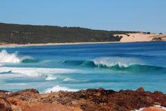 Indische Oceaan in Injidup zuidwestelijk Australië Royalty-vrije Stock Afbeelding