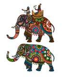 Indische olifant stock illustratie