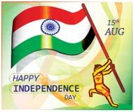 Indische Onafhankelijkheids dag-affiche Stock Afbeelding