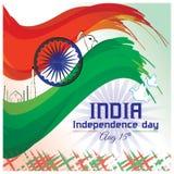 Indische Onafhankelijkheids dag-affiche Stock Afbeeldingen