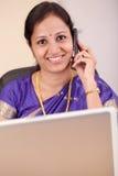 Indische onderneemster Royalty-vrije Stock Fotografie