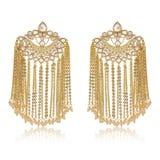Indische oorringen van gouden kettingen royalty-vrije stock afbeeldingen