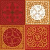 Indische ornamentreeks Royalty-vrije Stock Afbeeldingen