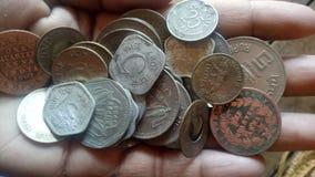 Indische oude muntstukken royalty-vrije stock foto