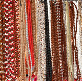 Indische parels in lokale markt in Pushkar. Stock Foto
