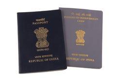Indische Paspoort en Kaart PIO Royalty-vrije Stock Fotografie