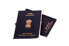 Indische paspoorten Stock Afbeelding