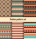 Indische patroonreeks Royalty-vrije Stock Fotografie