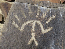 Indische Petroglyphe in Ost-Washington Stockfoto