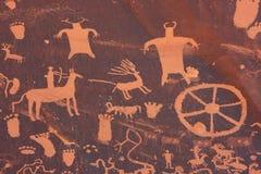 Indische Petroglyphen, Zeitungs-Felsen-Zustands-historisches Monument, Utah, USA lizenzfreies stockfoto