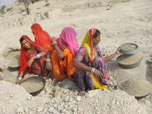 Indische Plattelandsvrouw Stock Foto