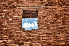 Indische Pueblo-Ruïnes in New Mexico Stock Fotografie