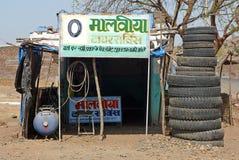 Indische Radreparatur Stockbild