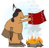 Indische Rauch-Ringe Stockfoto