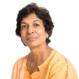 Indische reife Frau Stockfotografie