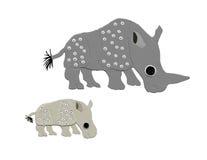 Indische rinocerossen vector illustratie