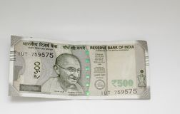 Indische Roepies vijf honderd stock foto's