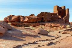 Indische ruïnes Royalty-vrije Stock Afbeeldingen