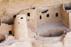 Indische ruïnes in Mesa Verde Royalty-vrije Stock Foto
