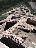 Indische ruïnes in Tuzigoot Stock Afbeelding
