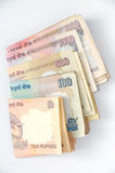 Indische Rupie lizenzfreie stockfotos