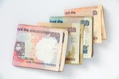 Indische Rupie stockfotos