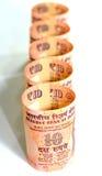 Indische Rupie-Bargeld Stockbild