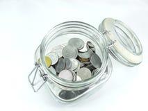 Indische Rupie-Münzen Lizenzfreies Stockfoto