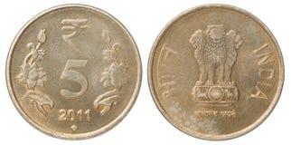 Indische Rupien Münze Lizenzfreie Stockfotografie