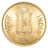 5 indische Rupien Münze Stockfoto