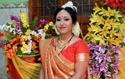 Indische schüchterne Braut Lizenzfreie Stockbilder