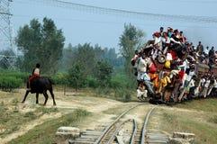 Indische Schienen-Reise. Stockbild
