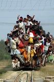 Indische Schienen-Reise. Stockfotografie