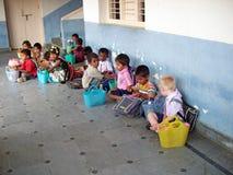 Indische schooljongens Royalty-vrije Stock Foto's