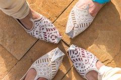 Indische Schuhe stockfoto