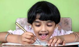 Indische Schule-kleines Mädchen Lizenzfreie Stockfotos