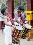 Indische slagwerkers, Kerala, Zuid-India Stock Foto