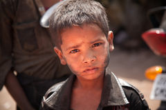 Indische slechte kinderen (bedelaar) Royalty-vrije Stock Foto