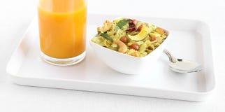 Indische Snack Poha Chivda stock fotografie
