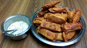 Indische Snack: Sambharwadi stock afbeeldingen