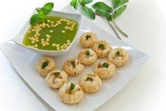 Indische snack van waterballs Royalty-vrije Stock Afbeeldingen