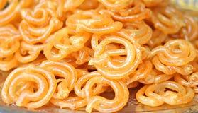 Indische Snoepjes Jalebi Royalty-vrije Stock Afbeeldingen