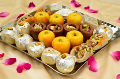 Indische Snoepjes - Mithai Stock Afbeelding